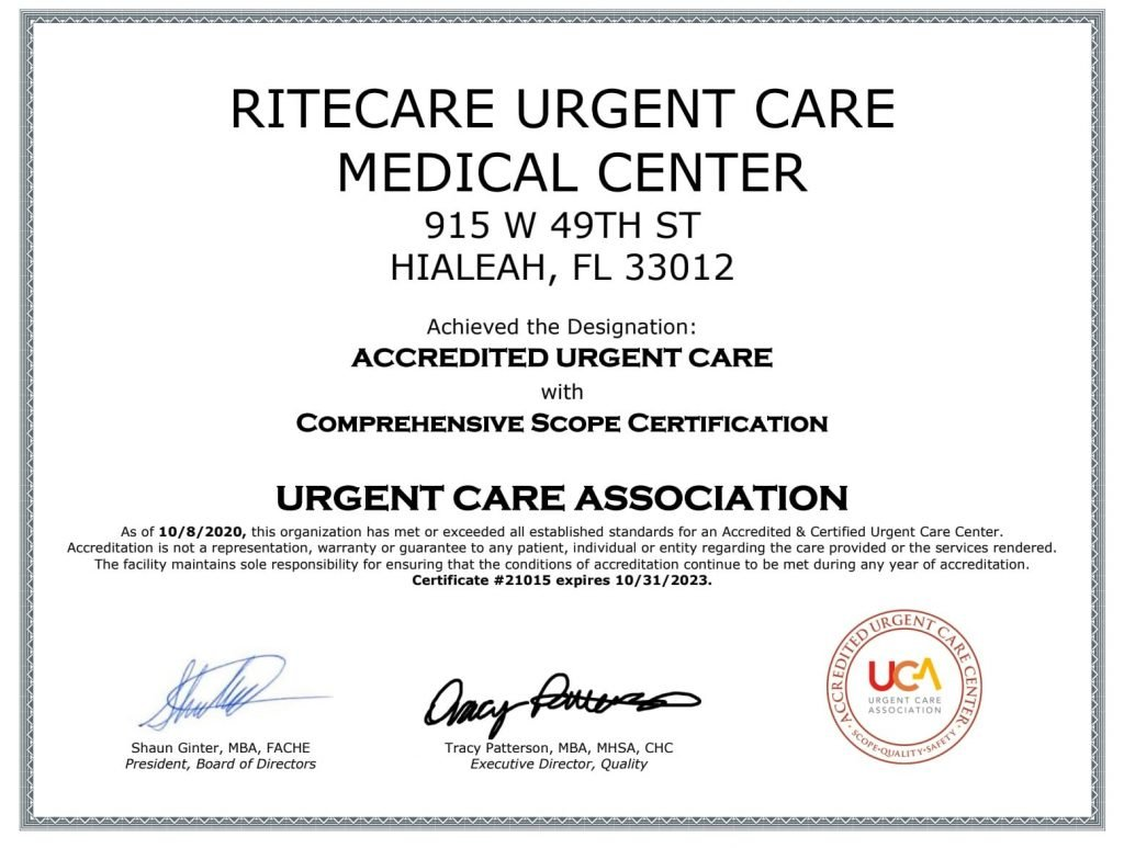 best urgent care hialeah